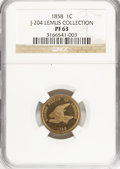 Patterns, 1858 P1C Flying Eagle Cent, Judd-204, Pollock-248, R.5, PR63 NGC.Ex: Lemus Collection. NGC Census: (10/16). PCGS Populatio...