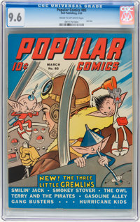Popular Comics #85 (Dell, 1943) CGC NM+ 9.6 Cream to off-white pages