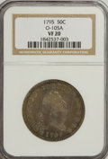Early Half Dollars, 1795 50C 2 Leaves VF20 NGC. O-105A. NGC Census: (58/382). PCGSPopulation (116/365). Mintage: 299,680. Numismedia Wsl. Pric...