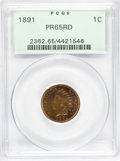Proof Indian Cents, 1891 1C PR65 Red PCGS....