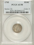 Early Half Dimes: , 1795 H10C AU58 PCGS. PCGS Population (48/123). NGC Census:(91/119). Mintage: 78,600. Numismedia Wsl. Price for NGC/PCGS co...