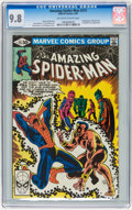 Modern Age (1980-Present):Superhero, The Amazing Spider-Man #215, 221, and 222 Group (Marvel, 1981)Condition: CGC NM/MT 9.8 Off-white to white pages.... (Total: 3Comic Books)
