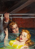Pulp, Pulp-like, Digests, and Paperback Art, RAFAEL DESOTO (American, 1904-1992). Dime Detective pulpcover, June 1947. Oil on board. 26 x 18.5 in.. Not signed. ...