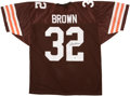 Football Collectibles:Uniforms, Jim Brown Signed Jersey. ...