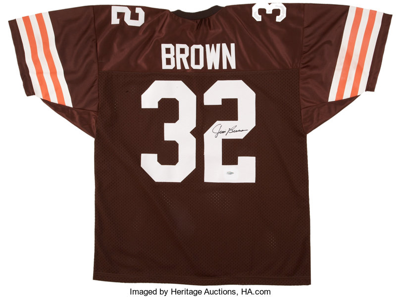 2a6dc8f41 Jim Brown Signed Jersey. ... Football Collectibles Uniforms   Lot ...