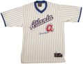 Autographs:Jerseys, Hank Aaron Signed Jersey....