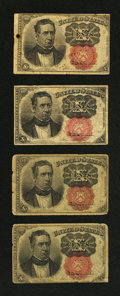 Fractional Currency:Fifth Issue, Fr. 1266 10¢ Fifth Issue Very Good. Four Examples.... (Total: 4notes)