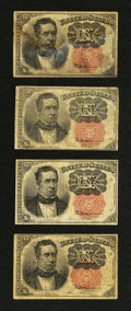Fractional Currency:Fifth Issue, Fr. 1265 10¢ Fifth Issue Fine. Four Examples.... (Total: 4 notes)