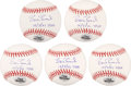 "Autographs:Baseballs, Barry Bonds Single Signed ""73 HR"" Baseballs Lot of 5. ..."