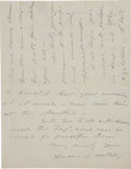 "Autographs:Celebrities, Susan B. Anthony Autograph Letter Signed with envelope face. Threepages, 5.5"" x 8.5"", November 22, 1886, Eau Claire, Wiscon..."