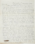 """Autographs:U.S. Presidents, [Andrew Jackson] Retained Carbon Copy of a Letter Addressed in Inkto """"Hon. John McLean"""". Two pages, 8"""" x 10..."""