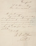 "Autographs:Non-American, Antonio Lopez de Santa Anna Letter Signed. Four integral pages,written on page one and addressed on page four, 8.5"" x 10.5""..."