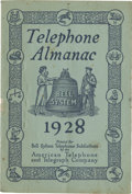 """Miscellaneous:Booklets, Bell System 1928 """"Telephone Almanac"""". [32 pages], 6.75"""" x10"""". Printed for """"Bell System Telephone Subscribers ..."""