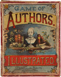 """Non-Sport Cards:Sets, Circa 1890 McLoughlin Bros """"Game of Authors"""" Card Game with Box...."""