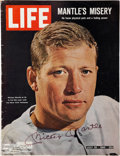 Autographs:Others, Mickey Mantle Signed Life Magazine....