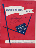 Autographs:Others, 1946 World Series Signed Program. ...