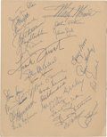 Autographs:Others, 1958 Baseball Writers' Association of America St. Louis SignedProgram. ...