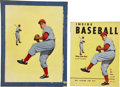 "Baseball Collectibles:Others, 1953 ""Inside Baseball"" Original Cover Artwork. ... (Total: 2 items)"