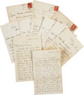 Autographs:Authors, Samuel Clemens Family Archive of Seven Letters, Including aHumorous Autograph Note Signed by Clemens Together with FiveOrigi...