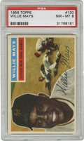 Baseball Cards:Singles (1950-1959), 1956 Topps Willie Mays #130 PSA NM-MT 8. The Say Hey Kid's cardfrom the '56 Topps set that we present here is such a nice ...