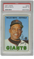 Baseball Cards:Singles (1960-1969), 1967 Topps Willie Mays #200 PSA NM-MT 8. The Hall of Fame five-tooltalent known as Willie Mays is the focus of this excel...