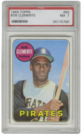 Baseball Cards:Singles (1960-1969), 1969 Topps Bob Clemente #50 PSA NM 7. Razor-sharp registration andfine centering sets this card dedicated to the Pirates H...