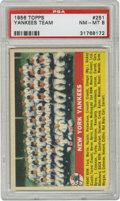 Baseball Cards:Singles (1950-1959), 1956 Topps Yankees Team #251 PSA NM-MT 8. Only seven unqualifiedrepresentations of this card have ever surpassed this high...