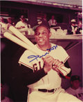 """Autographs:Photos, Willie Mays Signed Photograph. Remarkable vintage 8x10"""" image ofthe Say Hey Kid act as the ideal surface for the Hall of F..."""