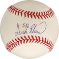 "Autographs:Baseballs, Frank Robinson ""586"" Single Signed Baseball. An imposing presenceat the plate for over twenty seasons, the mighty Hall of ..."