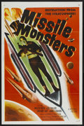 "Movie Posters:Science Fiction, Missile Monsters (Republic, 1958). One Sheet (27"" X 41""). ScienceFiction. Starring Walter Reed, James Craven, Gregory Gaye,..."