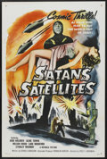 "Movie Posters:Science Fiction, Satan's Satellites (Republic, 1958). One Sheet (27"" X 41""). ScienceFiction. Starring Judd Holdren, Lane Bradford , Stanley ..."