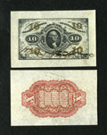 Fractional Currency:Third Issue, Fr. 1253SP 10c Medium Margin Specimen Pair Third Issue. The face shows a little handling and grades XF- About New. The b... (Total: 2 notes)