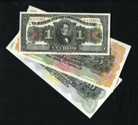 Costa Rica 1 ; 5; 10 Colones El Banco Anglo Costarricense 1917; 19__; 19__ Pick S121r; S122r; S123r This is a colorful r...