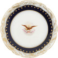 Political:Presidential Relics, Benjamin Harrison: White House Breakfast Plate from the Harrison Service....