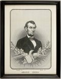 Political:Textile Display (pre-1896), Abraham Lincoln: Spectacular Woven Silk Portrait....