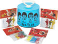 Music Memorabilia:Memorabilia, Beatles Vintage Record Case and Plastic Figurines.... (Total: 5 )
