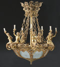Decorative Arts, French:Lamps & Lighting, A FRENCH BELLE ÉPOQUE GILT BRONZE TWENTY-ONE LIGHT CHANDELIER. Late19th-Early 20th Century. 60 x 48 x 48 inches (152.4 x 12...