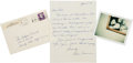 Music Memorabilia:Autographs and Signed Items, Handwritten Letter from Jim Morrison's Mother.... (Total: 3 Items)