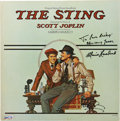 Movie/TV Memorabilia:Autographs and Signed Items, Paul Newman and Marvin Hamlisch Signed Copy of The StingSoundtrack....