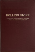 Music Memorabilia:Memorabilia, Rolling Stone Issues #31-45 Bound Volume....