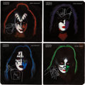 Music Memorabilia:Autographs and Signed Items, KISS Band-Signed 1978 Solo Albums - Complete Set.... (Total: 4Items)