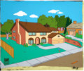 Movie/TV Memorabilia:Original Art, The Simpsons Original Production Cel. ...