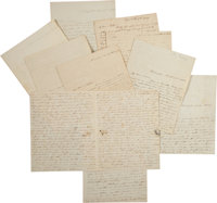 [Andrew Jackson] Archive of Ten Letters by Mary Coffee, Including Two with Free Franks Signed by President Jackson. T