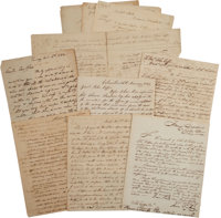 John Coffee Indian Removal Archive dating between November 1829 and January 1833 and relating to the Chickasaw, Choct