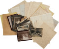 Autographs:Military Figures, [John Coffee] Archive of Letters from His Children, with Various Photographs. Over twenty-five letters are included, most wr...