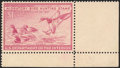 1946, $1 Redhead Ducks, Bright Rose Pink shade (RW13a)