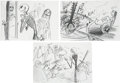 Movie/TV Memorabilia:Original Art, The Nightmare Before Christmas (1993) StoryboardSketches.... (Total: 3 )