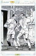 Original Comic Art:Splash Pages, Ron Frenz and Joe Rubinstein Superman #132 Splash page 22Original Art (DC, 1998)....
