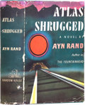 Books:First Editions, Ayn Rand. Atlas Shrugged. New York: Random House, [1957]..First edition. Octavo. 1168 pages.. Publisher's green...