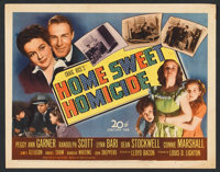 "Home Sweet Homicide (20th Century Fox, 1945). Lobby Card Set of 8 (11"" X 14""). Comedy. ... (Total: 8 Items)"